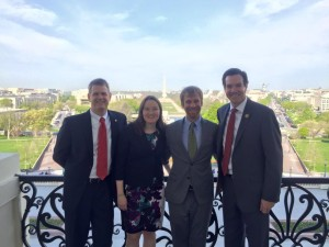 Tracy Hendeshot, MD; Kimberly Becher, and MD Louie Olive, with Representative Evan Jenkins